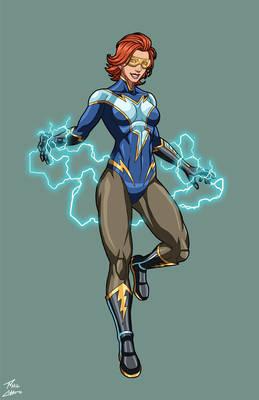 Lady Lightning OC commission