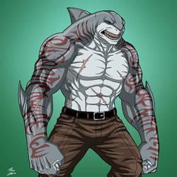 King Shark (Earth-27) commission