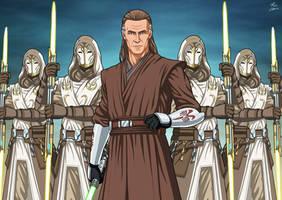 Cin Drallig and Jedi Temple Guard (SW) commission
