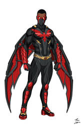 Red Phoenix OC redesign commmission