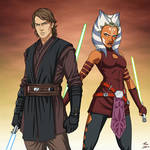 Anakin and Ahsoka (Star Wars) commission by phil-cho