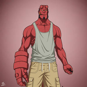Hellboy (Casual) [Earth-27] commission
