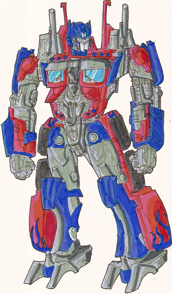 Optimus Prime Colored By Phil Cho