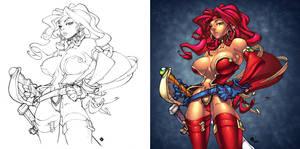 CREON's Red Monika colored