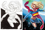 AH's Supergirl colors