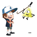 Dipper Pines and Bill Cipher  ( Gravity Falls )