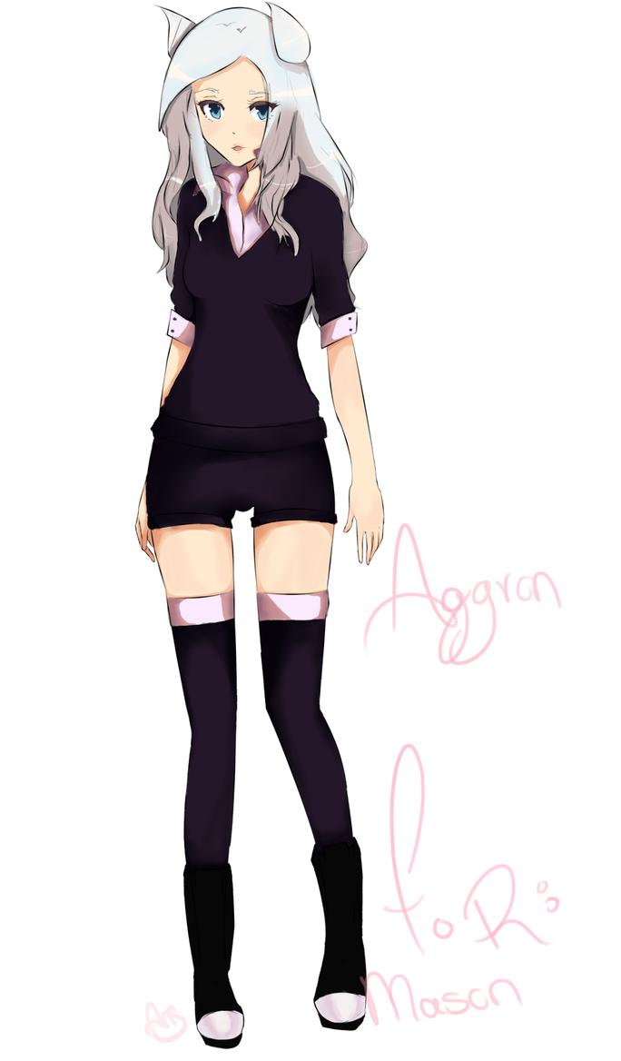 Aggron gijinka by Angromeda on DeviantArt
