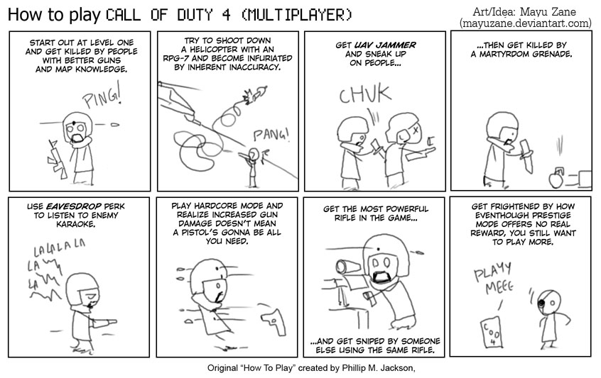 How to play COD4 MP by mayuzane on DeviantArt