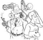 Inspector Gadget and Tintin