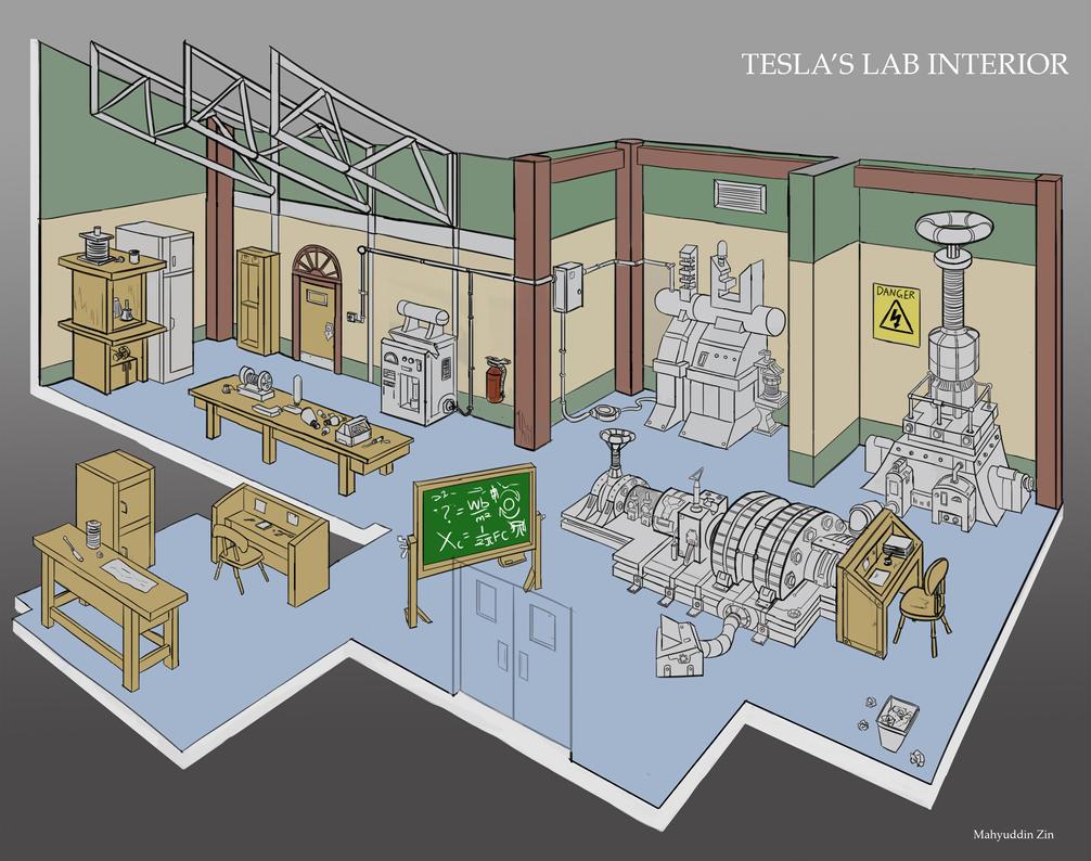 Tesla's Lab by mayuzane