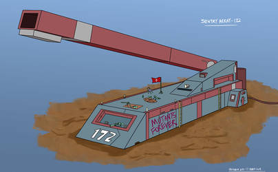 Sentry Array 172 concept: Bunker-Cannon by mayuzane