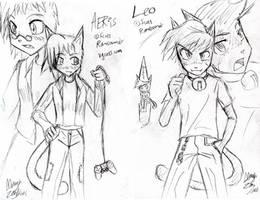 Aeris n Leo sketch01 .vgcats. by mayuzane