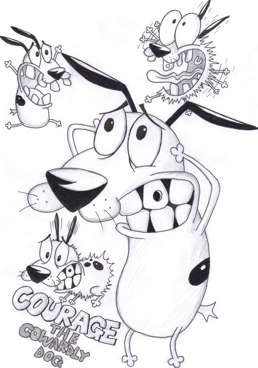Courage the Cowardly Dog by Corina93 on DeviantArt