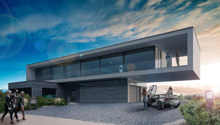Architectural Visualization practice - Dune House