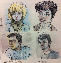 Portrait doodles by Jastyoot