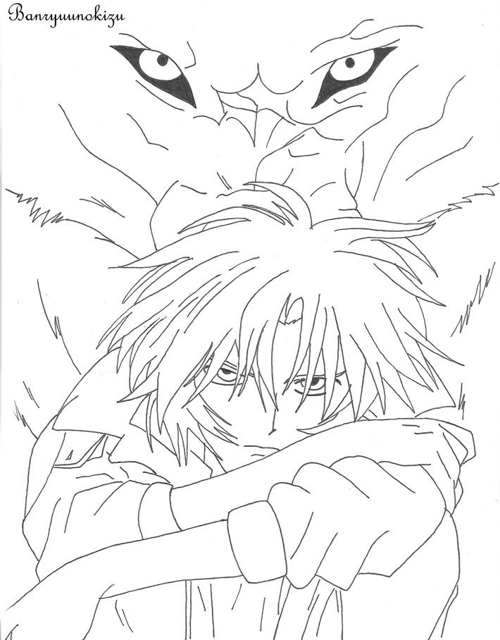 wolf rain coloring pages - photo#5