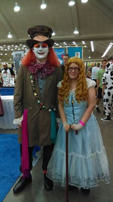 Baltimore Comic Con 2016 - Alice and the Hatter by j9y