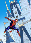 Spiderman goes to Disneyland
