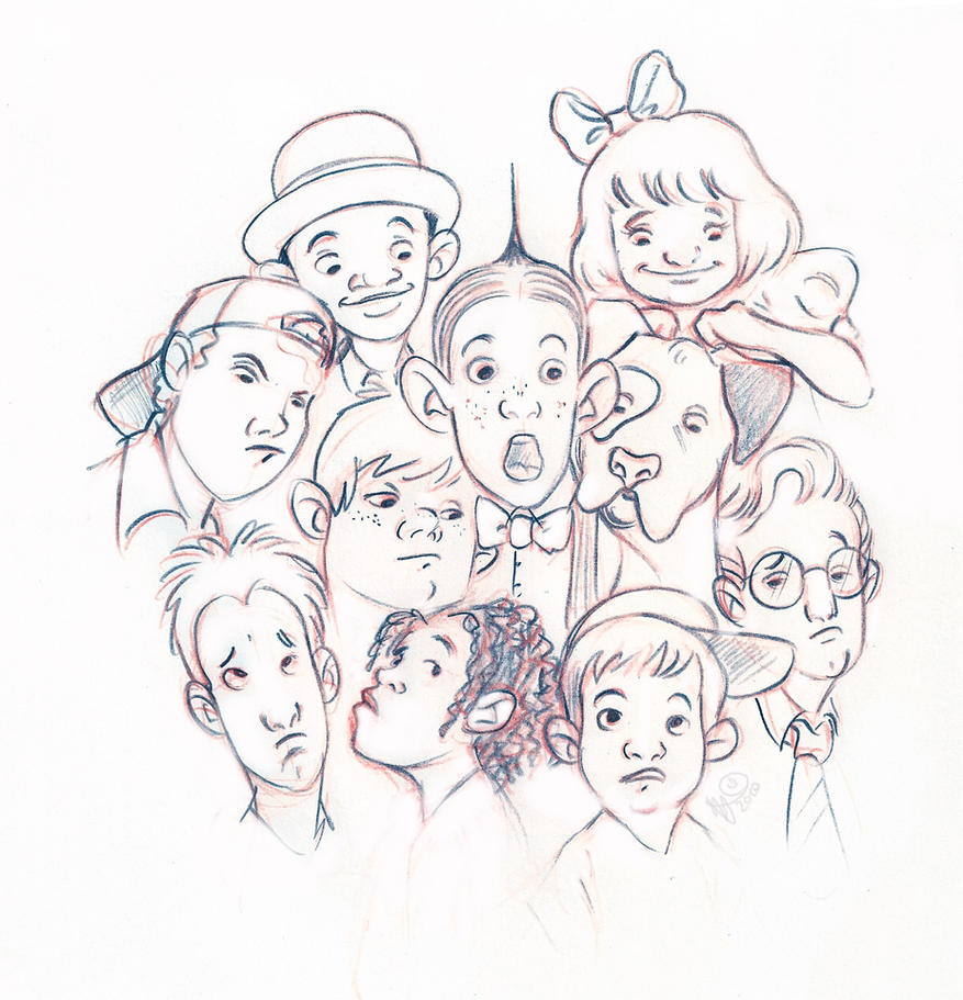 little rascals coloring pages - little rascals by lelpel on deviantart