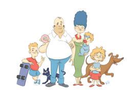 The Simpsons by Lelpel