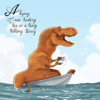 Tea-Rex by Lelpel