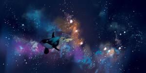 Space whale  by Lelpel
