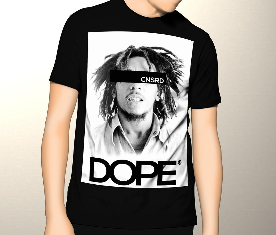 Shirt design of 2014 - Bob Marley Dope T Shirt Design By Tailordesigns