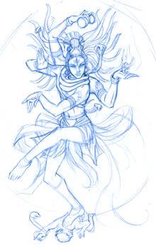 SKETCH: Shiva Nataraja WIP