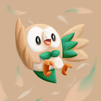 Rowlet by Rosy-forever