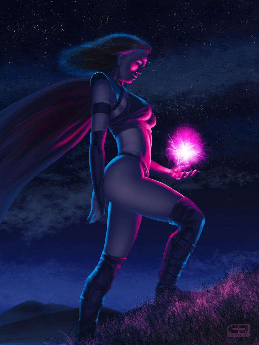 Warrior Mage and Plasma Ball