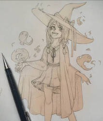 monochrome witch  by Starlight-waltz