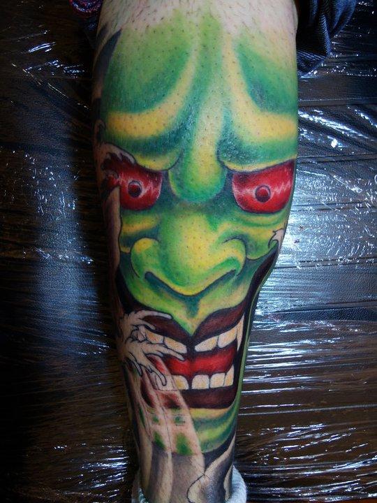alan barbosa tattoo japanese mask by alanbarbosatattoo on DeviantArt
