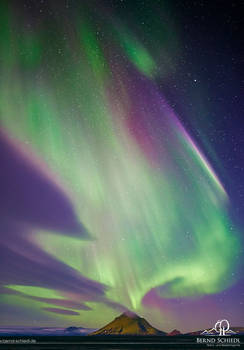 Aurora over Myrdalsjokull
