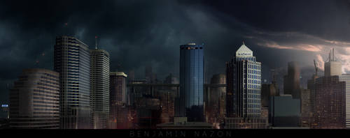 Cityscape Concept Art by rainth34