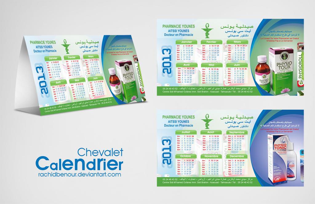 Calendrier chevalet by rachidbenour on deviantart - Calendrier design ...