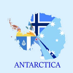 Antarctica Flag Map by StrayberryFilling
