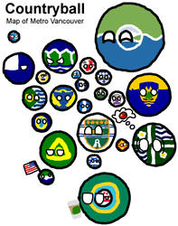 Countryball Map of Vancouver by StrayberryFilling