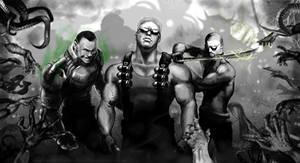 Doom marine, Duke Nukem, Lo Wang.