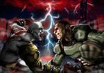 Kratos vs Doom Slayer