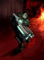 Doomslayer- BFG9000 by ArdathLilitu