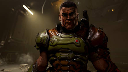 Doomslayer face