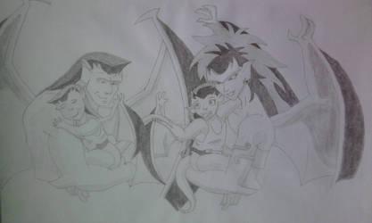 Gargoyles Go,De,Ang,Bra by Chevo-Dan-92
