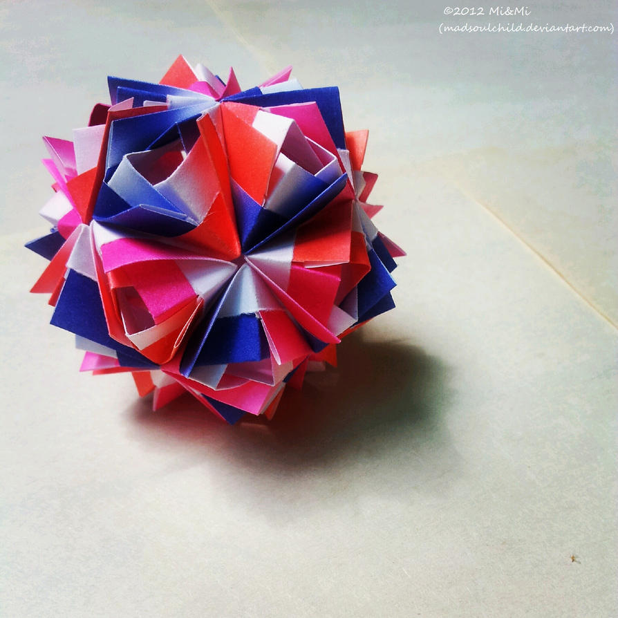 Modular Origami (Etna Kusudama) 2 by MadSoulChild