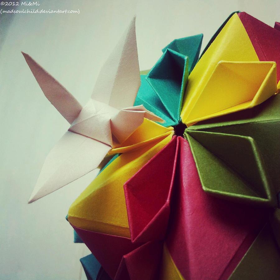 Modular Origami Cherry Blossom Ball 3 By Madsoulchild On Deviantart