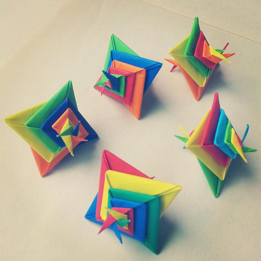 Modular Origami (Spiral) 4 by MadSoulChild on DeviantArt - photo#21