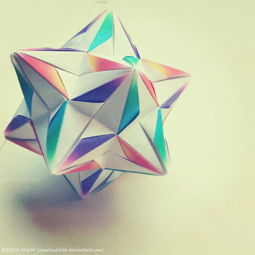 Origami 3d Modular Star Instructions Nut Simple Kusudama 5 Point