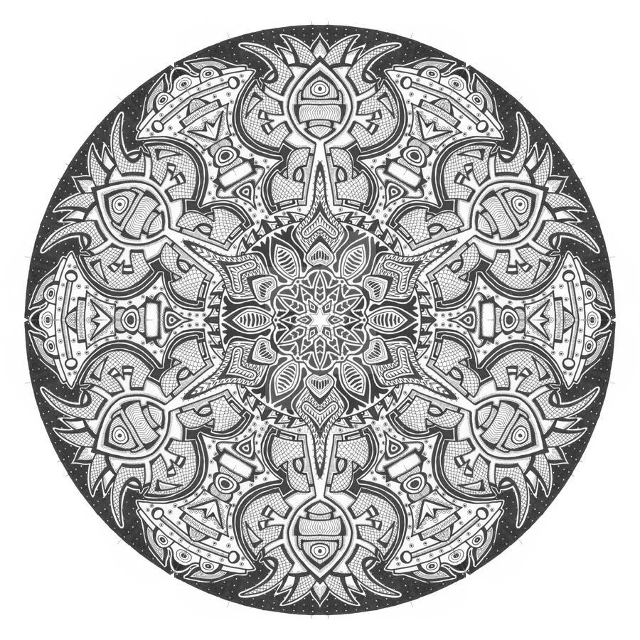Mandala drawing 1 by Mandala-Jim