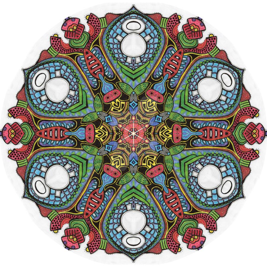 Mandala drawing 4 coloured by Mandala-Jim