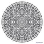 Mandala drawing 19