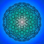Mandala Drawing 21 BLUE